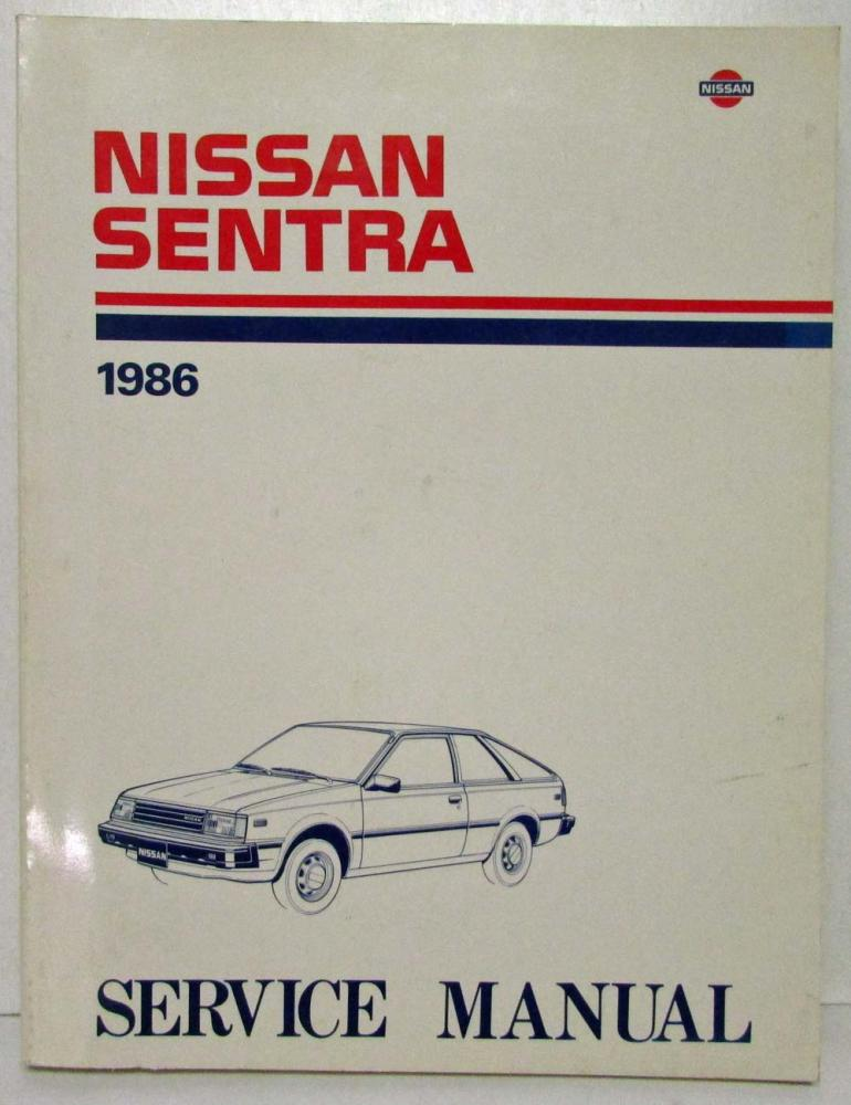 1986 nissan sentra service shop repair manual model b11 series rh autopaper com Nissan B13 Nissan B16
