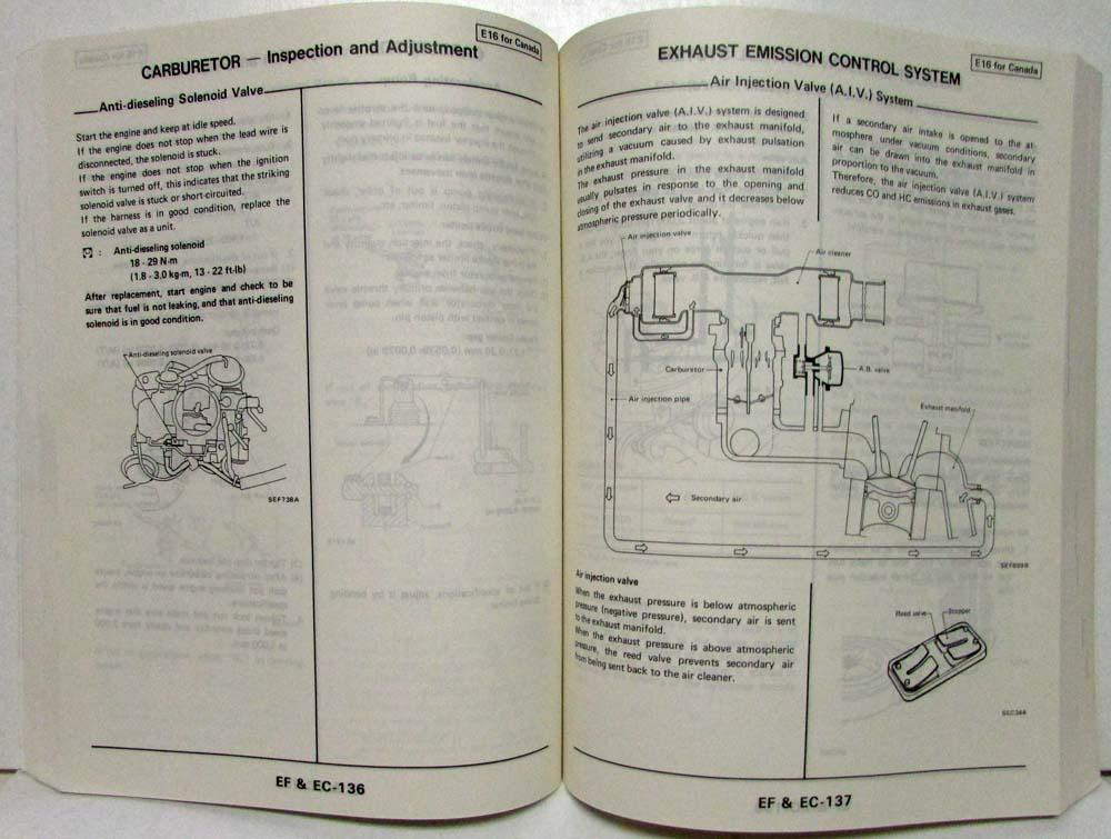 1986 nissan sentra service shop repair manual model b11 series rh autopaper com Nissan Sunny B12 Nissan Sunny B13