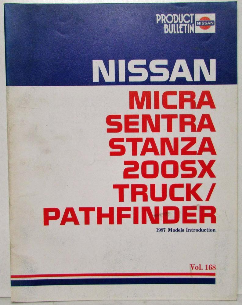 1987 Nissan Product Bulletin Vol 168 Models Intro Truck Pathfinder 200SX  Sentra