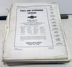 1938-1966 Chevrolet Parts Accessories Catalog Book Passenger Car Corvette Truck