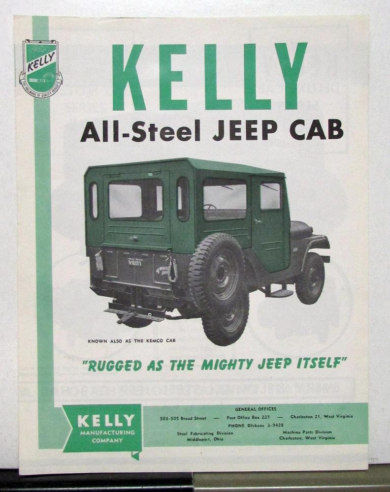 1956 Willys Jeep CJ-1A CJ-3A CJ-3B CJ-5 CJ-6 Kelly All-Steel
