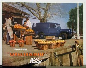 1957 Willys Jeep Furgon Utilitario Sales Brochure & Specifications Spanish Text