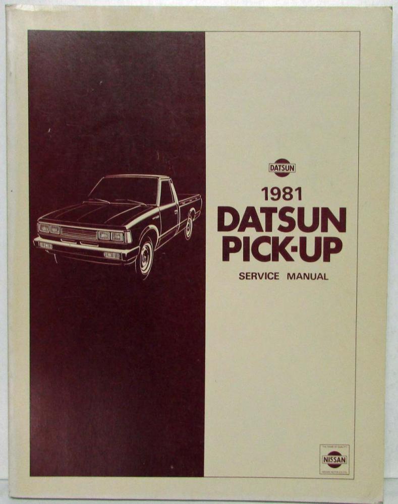 1981 datsun pick up service shop repair manual model 720 series rh autopaper com 1986 nissan 720 service manual nissan 720 service manual
