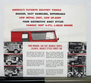 1960 Willys Jeep DJ-3A Dispatcher Sales Mailer & Specifications