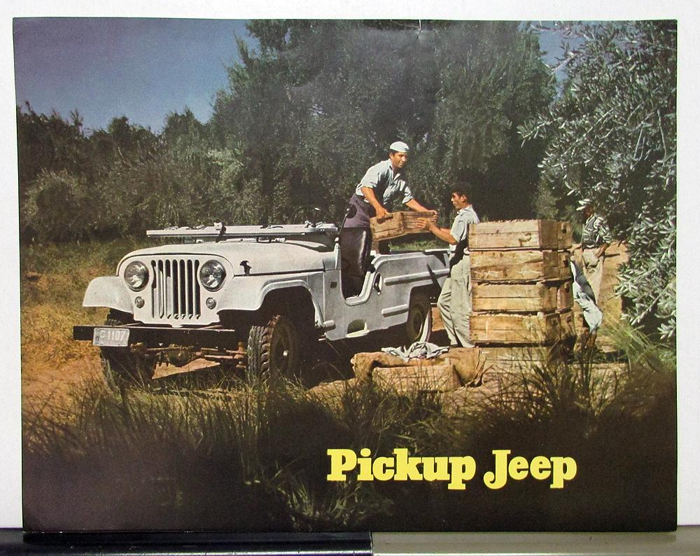 1960 Willys Jeep Pickup Sales Brochure Specifications In Spanish Text 1941 To 1952