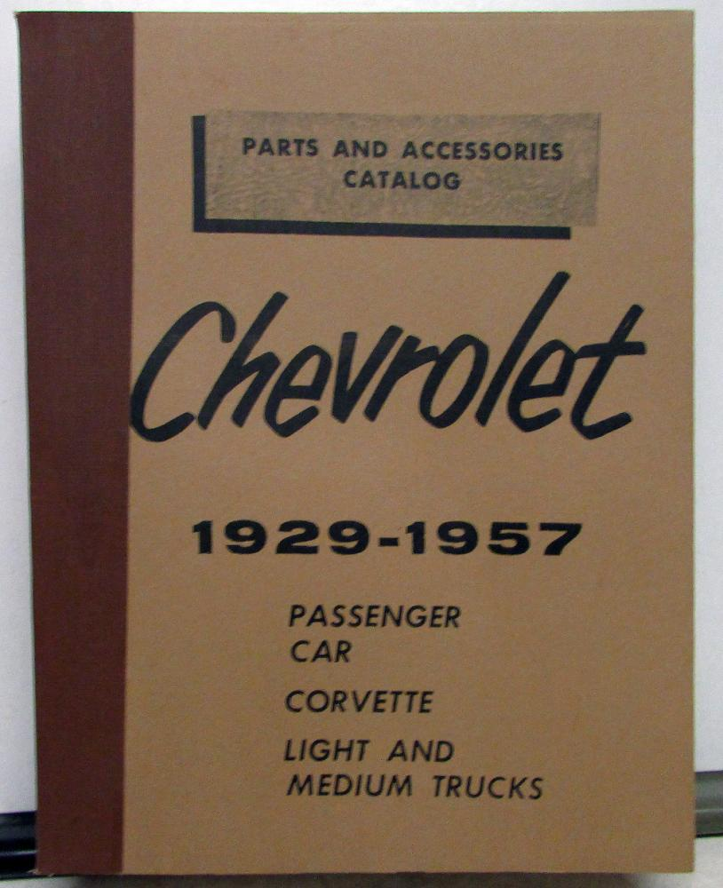 1929 1957 Chevrolet Parts U0026 Accessories Catalog Book Car Corvette Truck  Repro