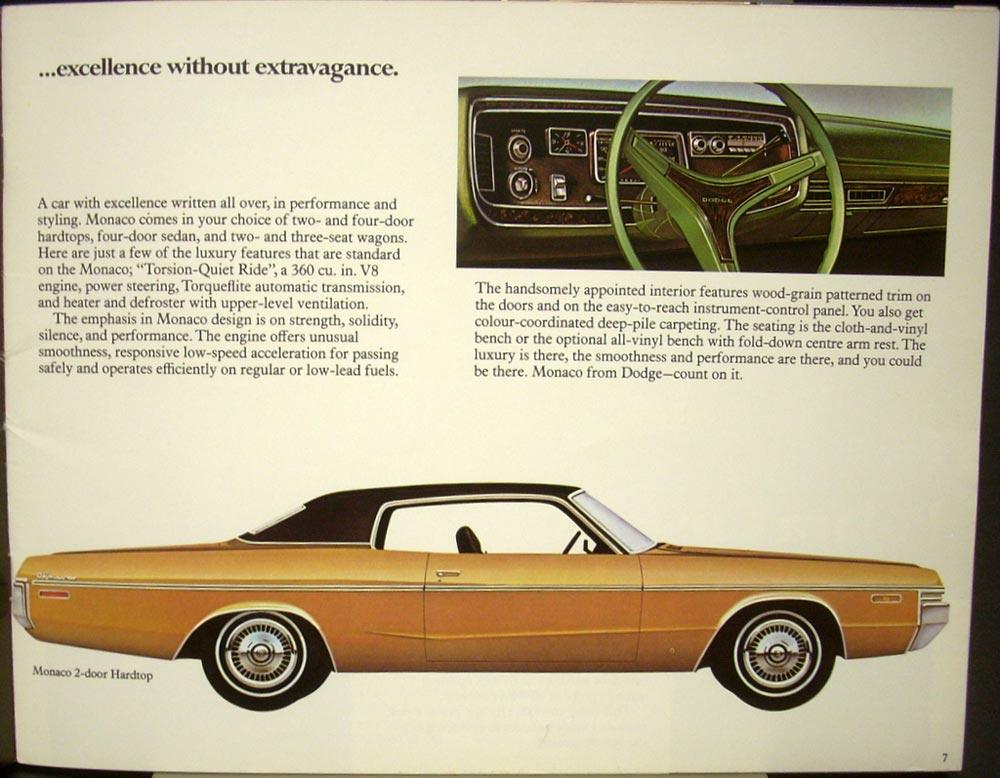 1972 Dodge Monaco Polara Coronet Dart Charger Challenger
