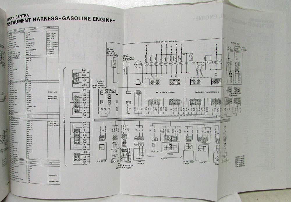 1983 datsun nissan sentra service shop repair manual model b11 series rh autopaper com Nissan Sunny B13 Nissan Sunny B13