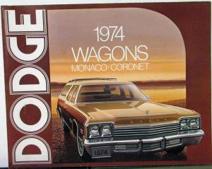 1974 Dodge Wagons Monaco Coronet Color Sales Folder Specs Equip Exterior Colors