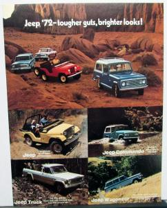 1972 Jeep Commando Wagoneer Truck Sales Brochure Sheet And Color Chart