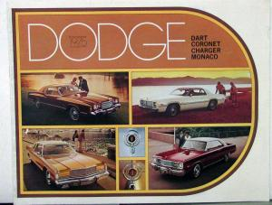 1975 Dodge Dart Coronet Charger Monaco Color Sales Brochure Original