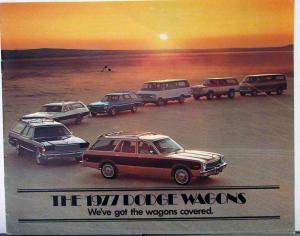 1977 Dodge Wagons Aspen Monaco Sportsman Ramcharger Sales Brochure Original