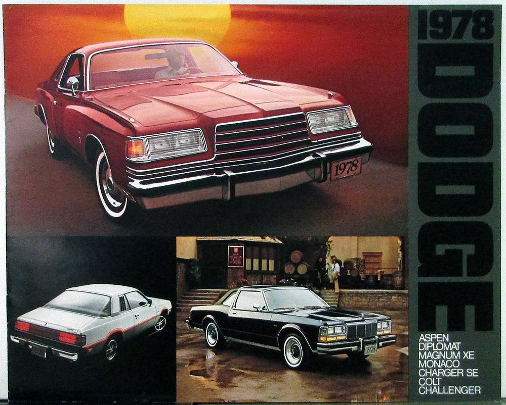1978 Dodge Aspen Diplomat Magnum Monaco Charger Colt Challenger Sales Brochure