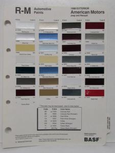 1988 Jeep Cherokee Wagoneer Wrangler Comanche Paint Chips
