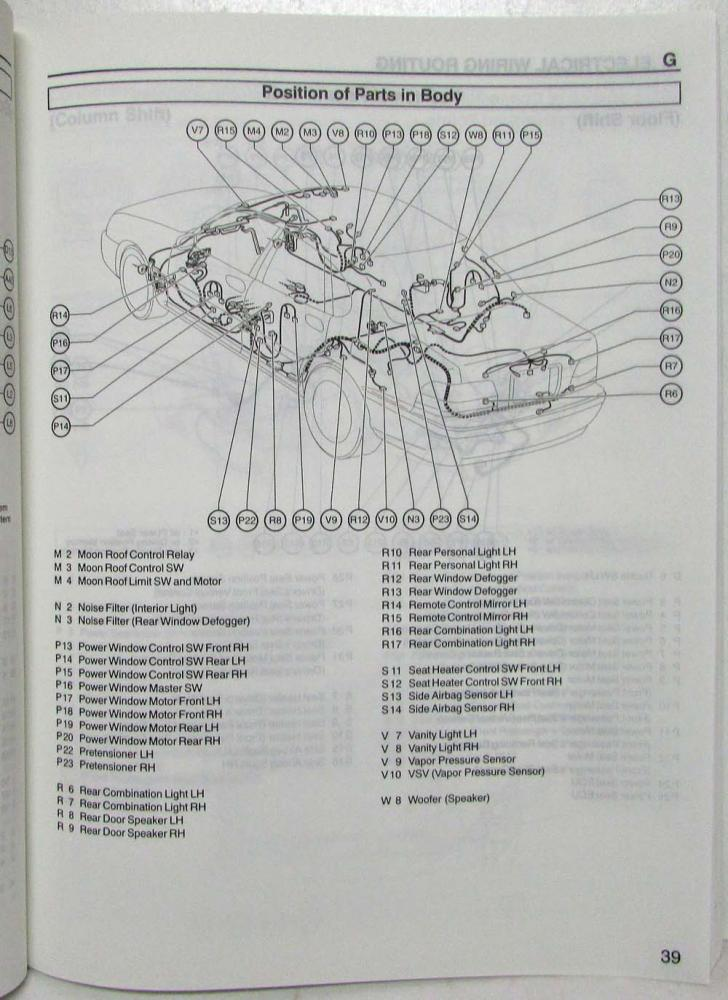 1999 Toyota Avalon Electrical Wiring Diagram Manual US & Canada on 1994 toyota land cruiser wiring diagram, 1992 toyota paseo wiring diagram, 1997 toyota t100 wiring diagram, 2009 toyota yaris wiring diagram, 1999 toyota avalon problems, 1999 toyota avalon battery, 2000 toyota tacoma wiring diagram, 2001 toyota avalon wiring diagram, 1999 toyota avalon repair manual, 1999 toyota avalon headlights, 1999 toyota avalon rear suspension, 2010 toyota rav4 wiring diagram, 2010 toyota camry wiring diagram, 1999 toyota avalon radio, 2004 toyota highlander wiring diagram, 1996 toyota t100 wiring diagram, 1999 toyota avalon xls, 1989 toyota cressida wiring diagram, 2005 toyota avalon wiring diagram, 2008 toyota highlander wiring diagram,