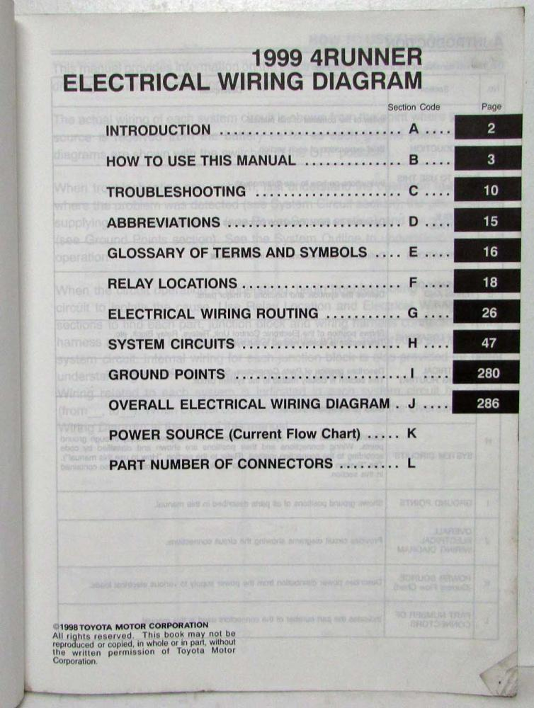 1999 toyota 4runner electrical wiring diagram manual us & canada 1999 toyota 4runner spark plug wire diagram 1999 toyota 4runner wiring diagram #46