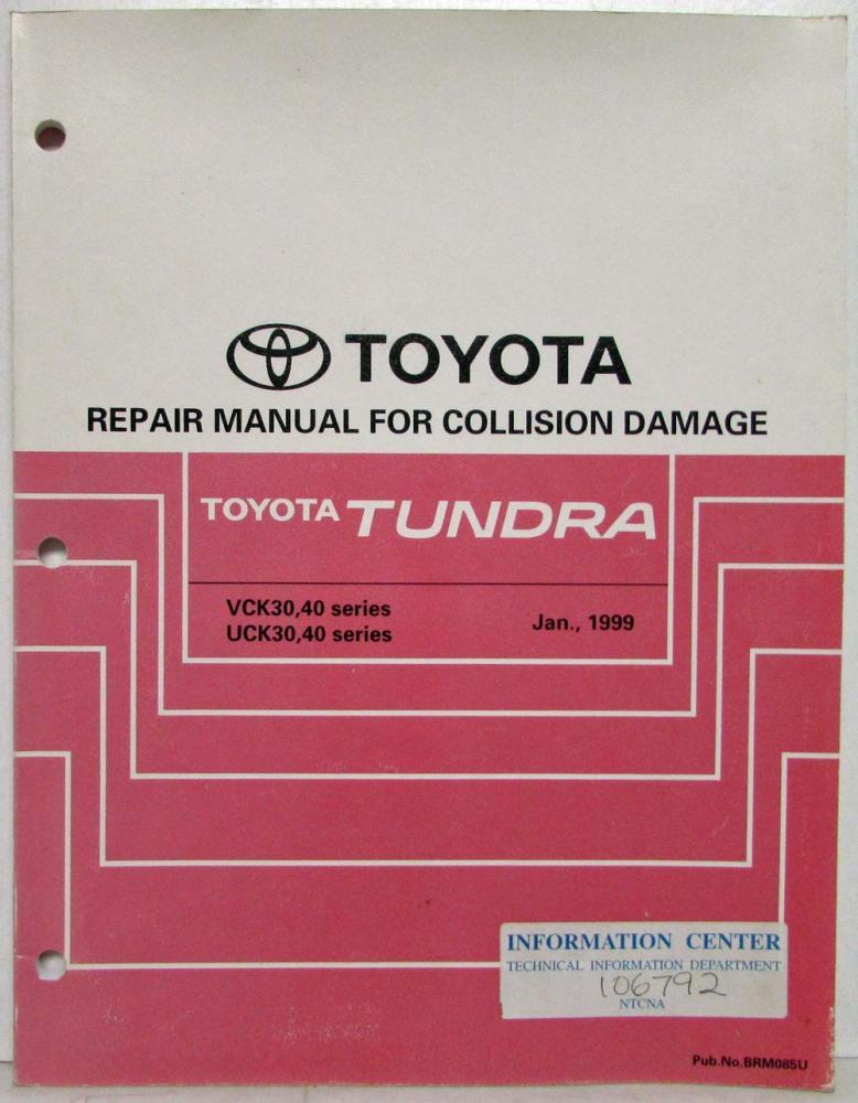 1999 toyota tundra service shop repair manual for collision damage rh autopaper com 2006 toyota tundra service manual toyota tundra service manual pdf