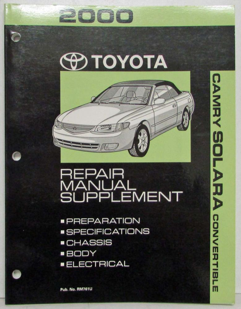 2000 toyota camry solara convertible service shop repair manual rh autopaper com 1997 Toyota Camry Manual toyota camry 2000 repair manual pdf