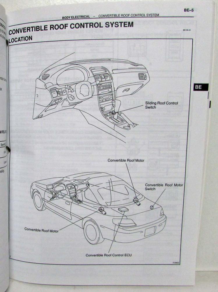 1999 Toyota Solara Repair Manual ~ Best Toyota