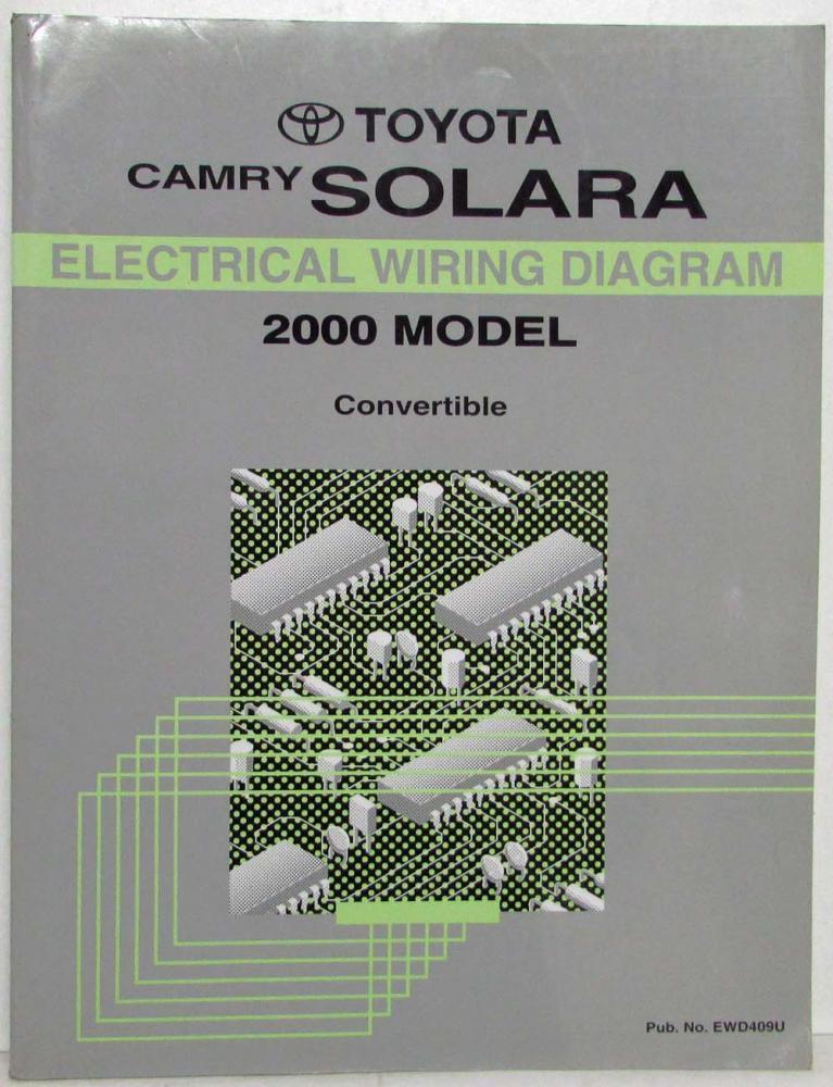 2000 toyota camry solara convertible electrical wiring diagram manual rh autopaper com Pontiac Fiero Wiring Diagram Lexus Rx350 Wiring Diagram