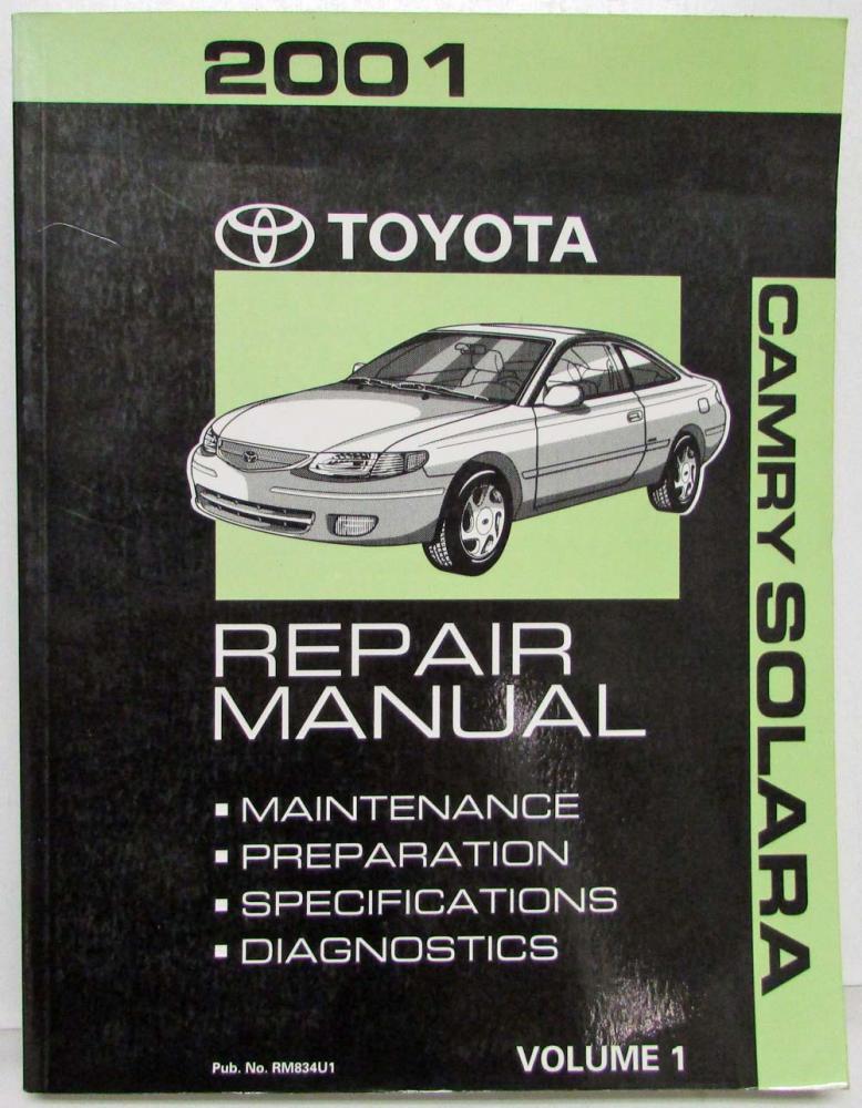 2001 toyota camry solara service shop repair manual set vol 1 2 rh autopaper com 2000 toyota solara repair manual pdf 2000 toyota solara repair manual pdf