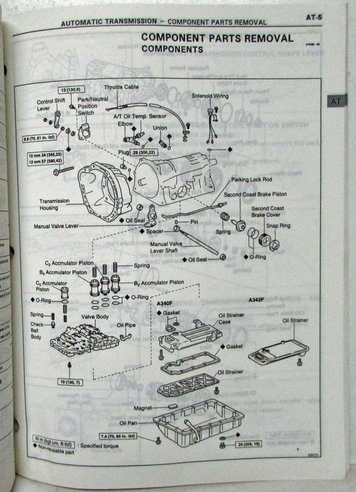 1995 toyota automatic transmission service repair manual a340f a343f rh autopaper com Ford Automatic Transmission Repair Manual Automatic Transmission Rebuilding Videos