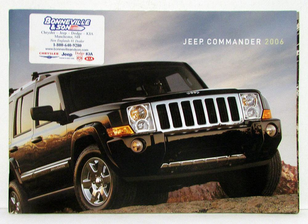 2006 jeep commander sales brochure rh autopaper com 2006 jeep commander manual 2006 jeep commander maintenance manual pdf