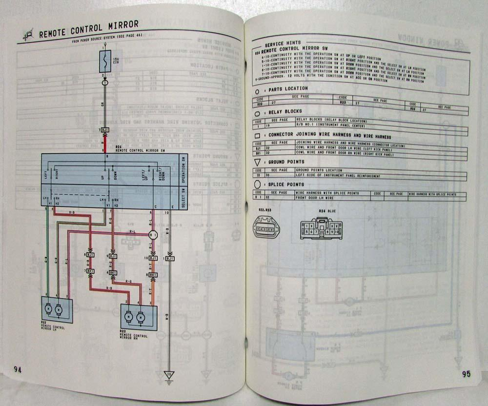 1997 toyota previa electrical wiring diagram manual us & canada
