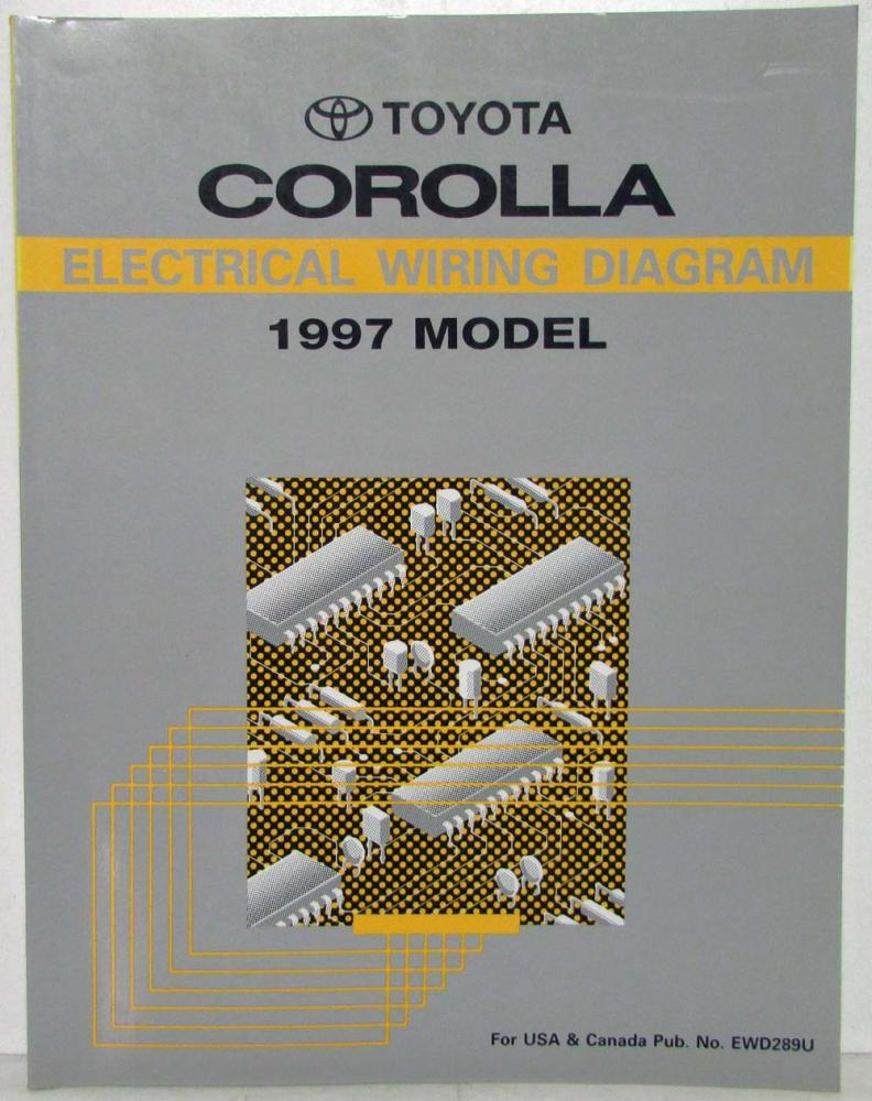 1997 Toyota Corolla Electrical Wiring Diagram Manual US & Canada