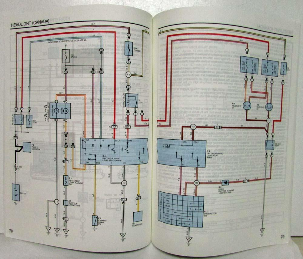 1998 Toyota Paseo Electrical Wiring Diagram Manual Us Canada