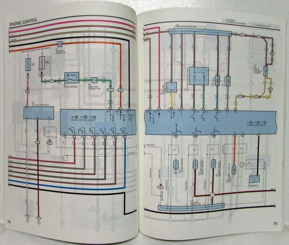 1998 Toyota Celica Electrical Wiring Diagram Manual Us Canada