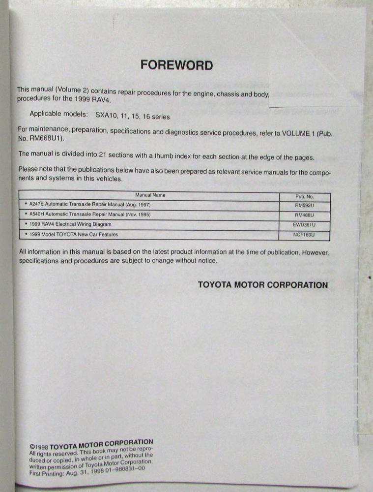2002 Toyota Rav4 Ignition Wiring Diagram - 4k Wiki Wallpapers 2018