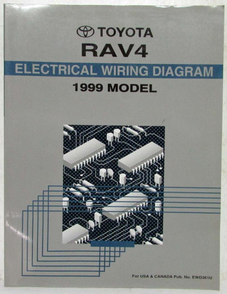 1999 toyota rav4 electrical wiring diagram manual us & canada 1999 toyota rav4 wiring diagram 1999 rav4 wiring diagram #2