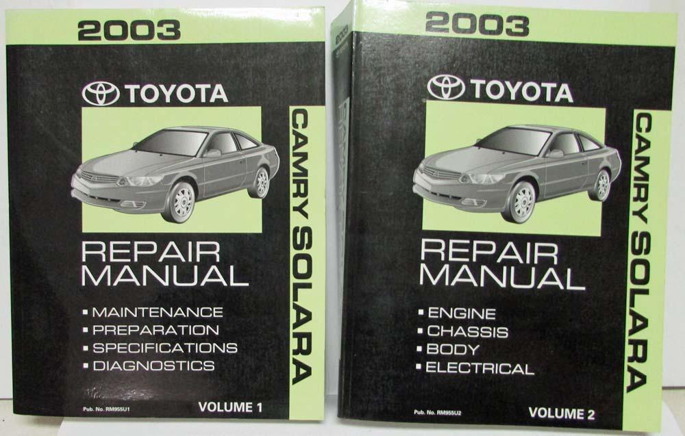 2003 toyota camry solara service shop repair manual set vol 1 2 rh autopaper com Toyota Prius Interior 2015 Toyota Prius
