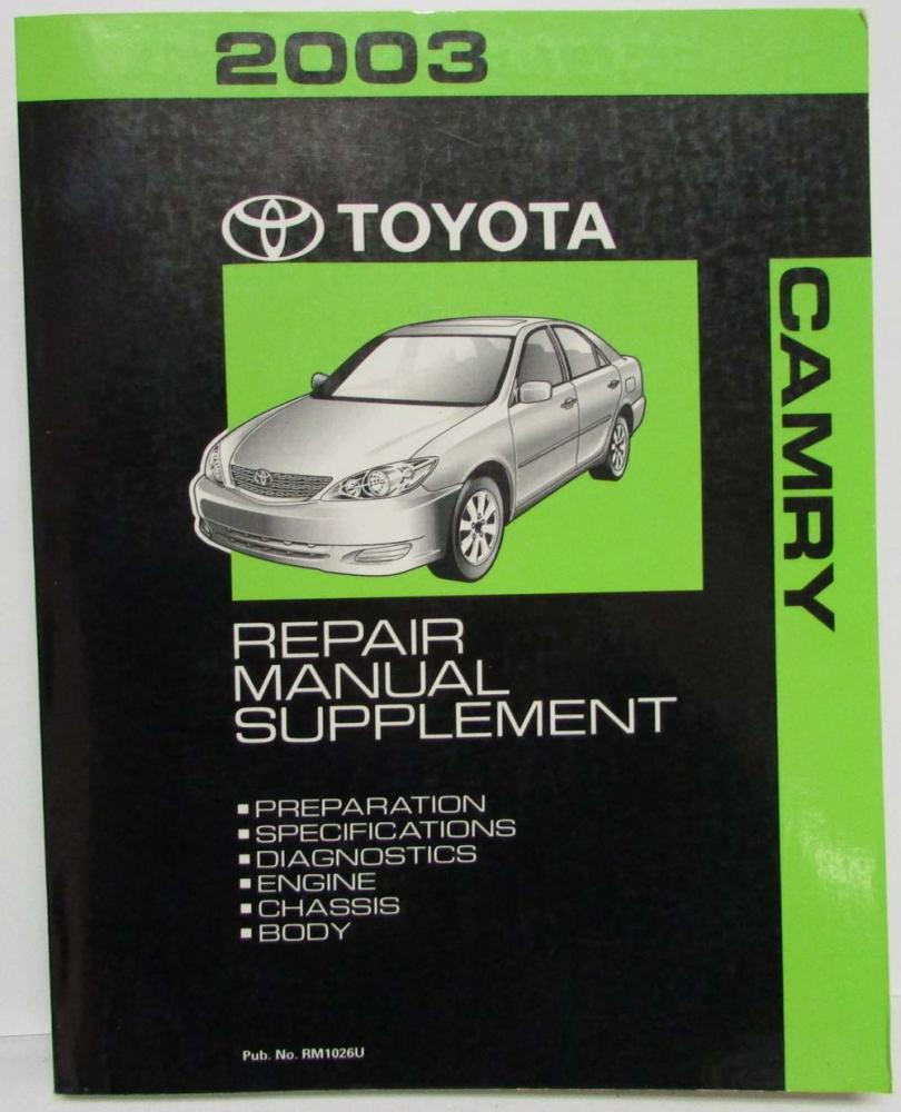 2003 toyota camry service shop repair manual supplement rh autopaper com 2003 toyota camry service manual free download 2003 toyota camry sportivo service manual