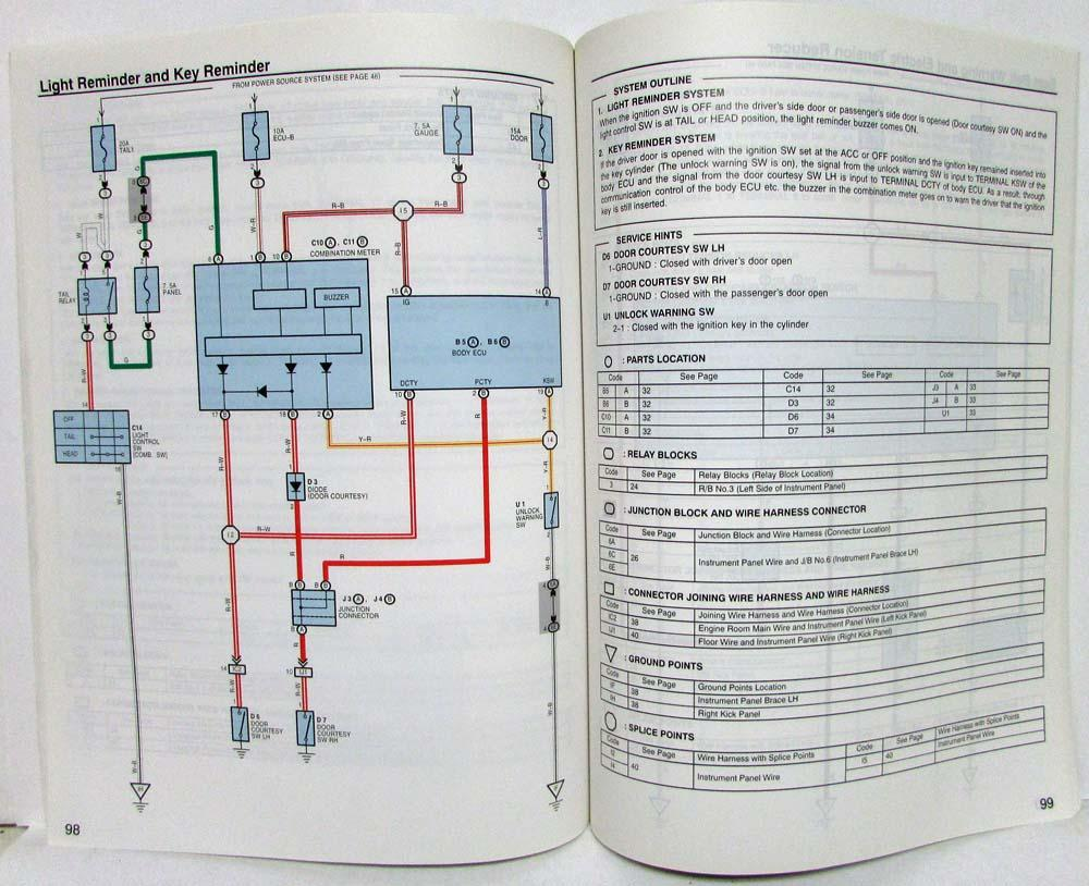 2005 Toyota Mr2 Electrical Wiring Diagram Manual