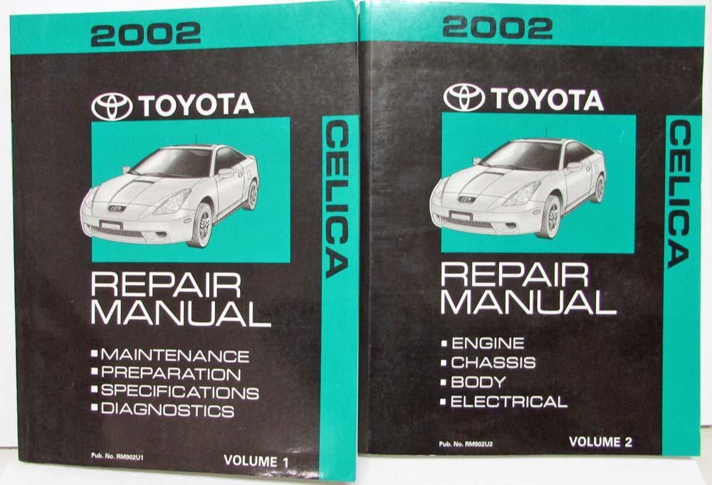 2002 toyota celica service shop repair manual set vol 1 2 rh autopaper com toyota celica workshop manual toyota celica service manual pdf