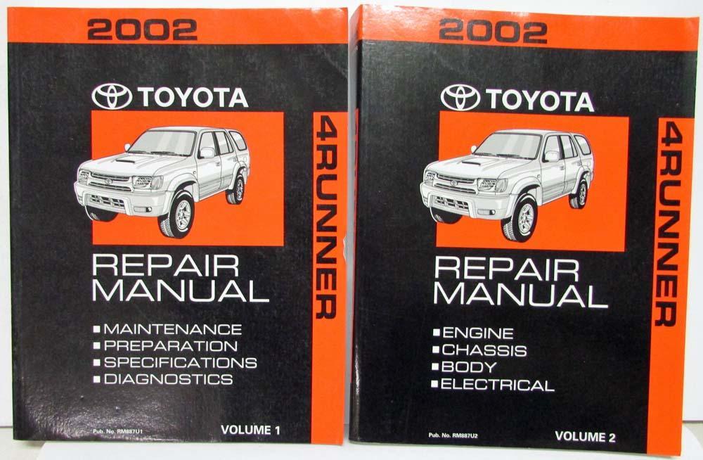 2002 toyota 4runner service shop repair manual set vol 1 2 rh autopaper com Honda Automatic Transmission Repair Manual Honda Automatic Transmission Repair Manual