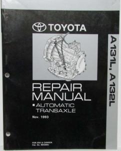 1993 toyota auto transaxle service repair manual a131l a132l corolla rh autopaper com 1991 Corolla 1995 Corolla