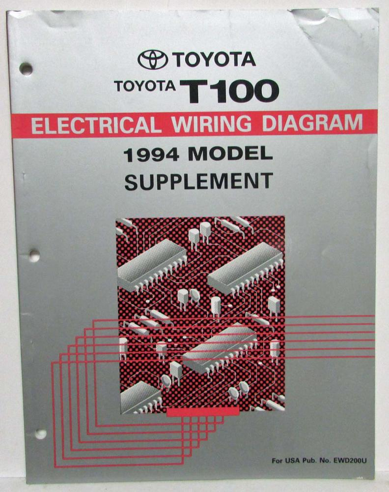 1994 toyota t100 electrical wiring diagram manual model supplement rh autopaper com toyota t100 electrical diagram toyota t100 electrical diagram