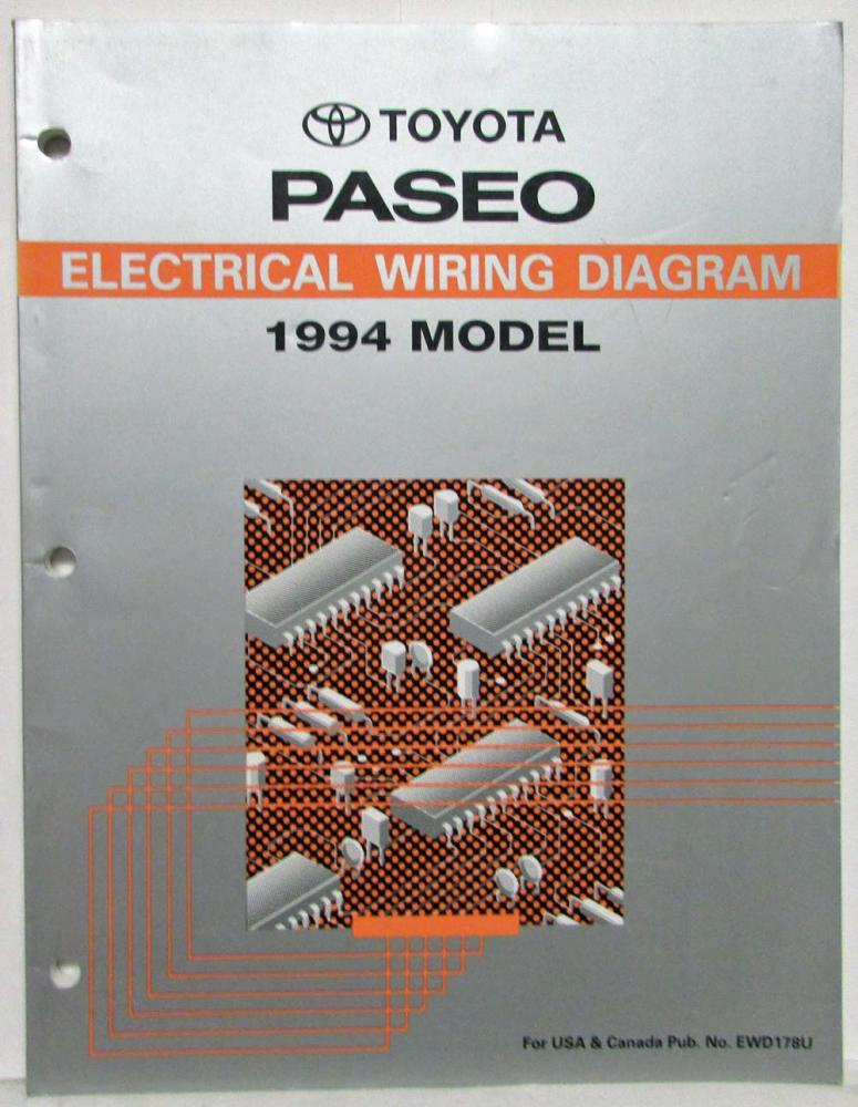 1996 Toyota Paseo Electrical Wiring Diagram Service Manual EWD Factory
