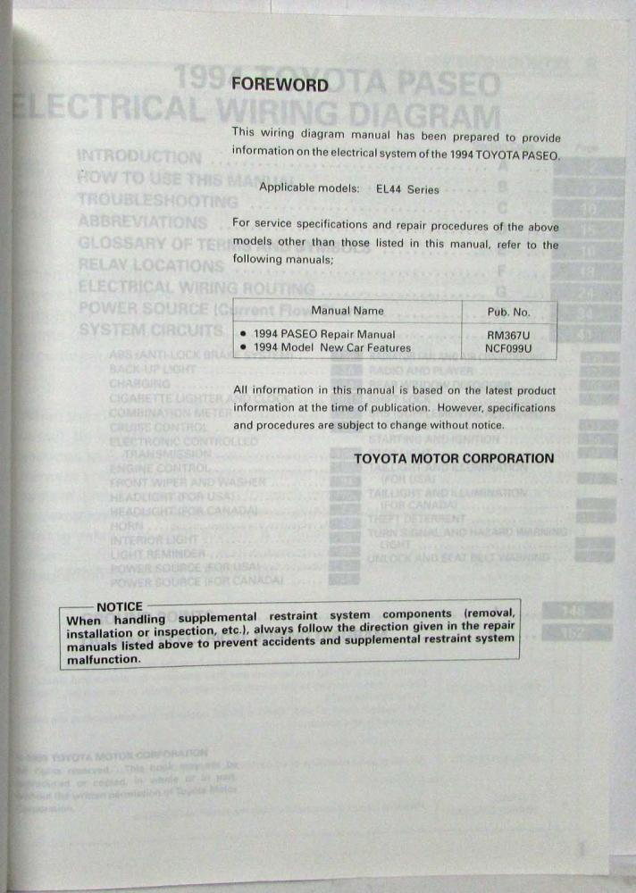 img0646_107492 1994 toyota paseo electrical wiring diagram manual us & canada