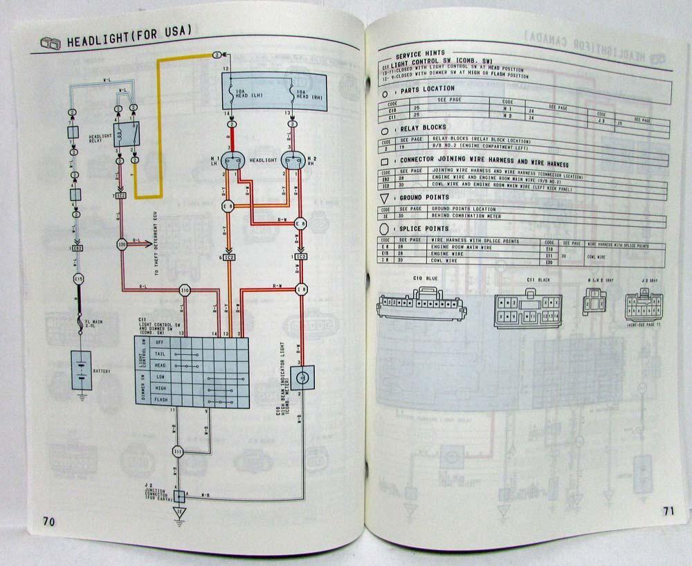 1994 toyota engine wiring diagram 1994 toyota paseo electrical wiring diagram manual us   canada  1994 toyota paseo electrical wiring