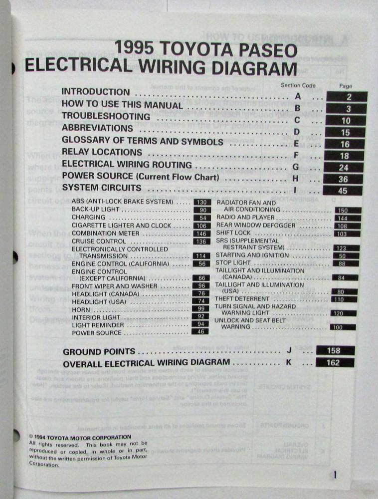 Toyota Paseo Wiring from www.autopaper.com