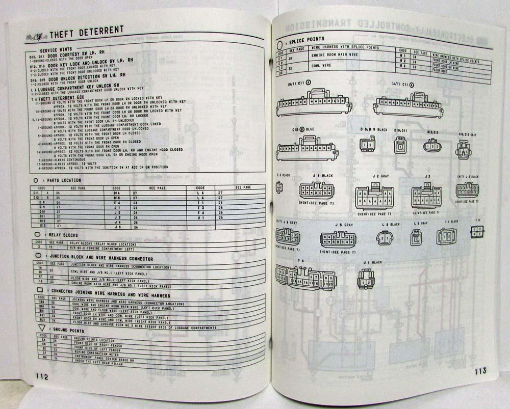 1995 Toyota Paseo Fuse Diagram Truck Wiring Manual Original Electrical Us Canada 1000x803