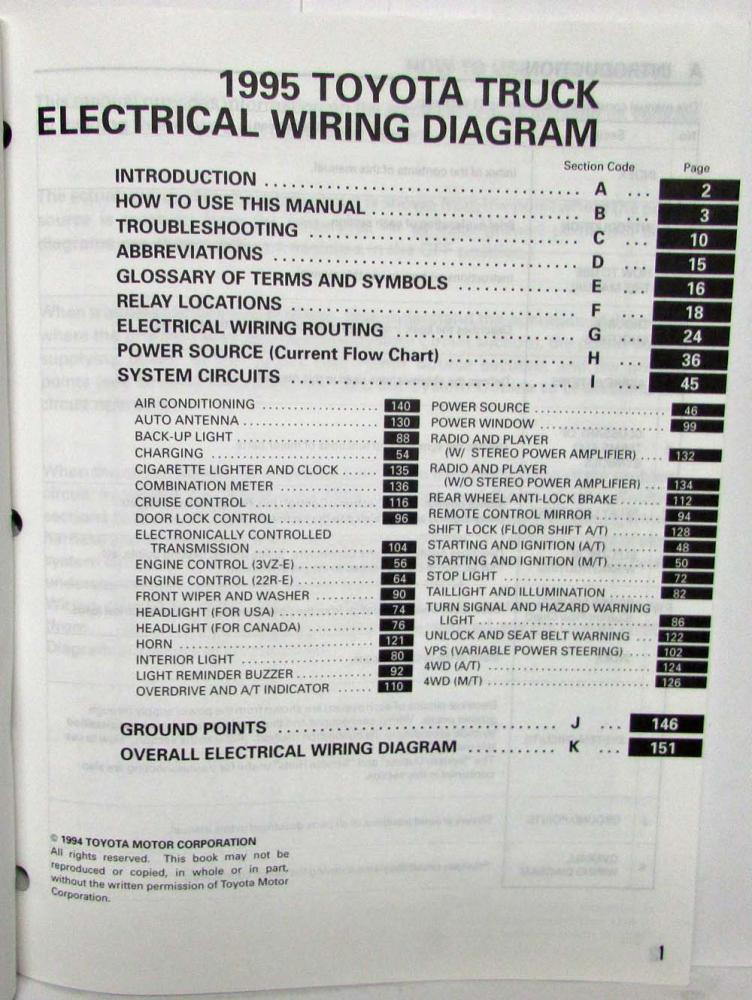 Diagram  2008 Toyota Ta Pickup Wiring Diagram Manual