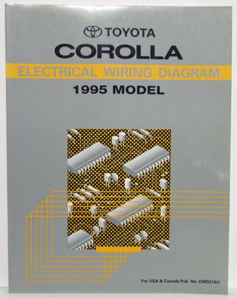 1995 Toyota Corolla Electrical Wiring Diagram Manual US & Canada