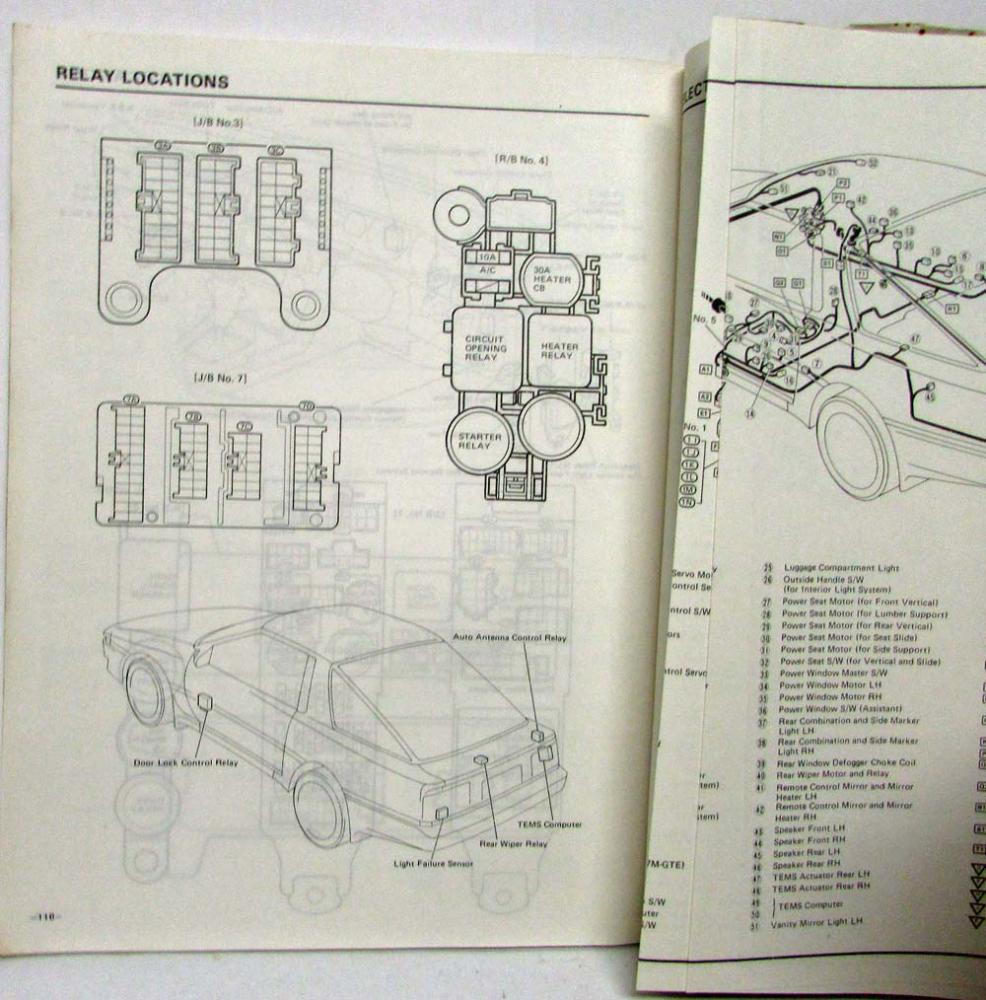 1987 Toyota Supra Electrical Wiring Diagram Manual Us Canada Car Keyless Entry System