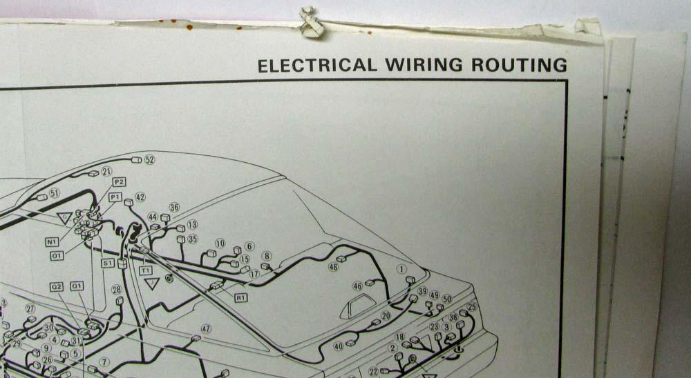 1987 Toyota Supra Electrical Wiring Diagram Manual US & CanadaTroxel's Auto Literature