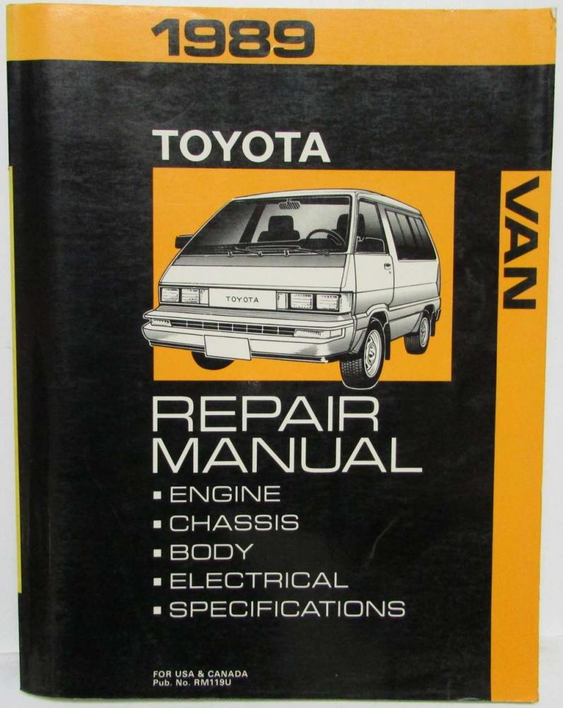 1989 Toyota Van Service Shop Repair Manual plus Electrical Wiring Diagram
